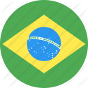 circle brazil flag nation country 128