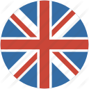 united kingdom UK England circle flag 128